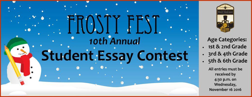 City Announces Frosty Fest Student Essay Contest