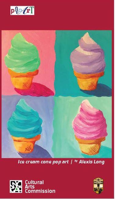 Ice Cream Pop Art Banner