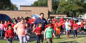 Mayor Walking with Kids