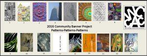 Banner for 2016 Community Banner Art Walking Tour Map