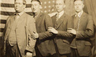 Vintage photo of Wesley Diebold, Leo Dieter,Robert Gustafson and unidentified man, circa 1917