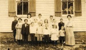 Benjamin School photo circa 1909