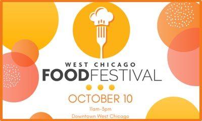 Banner for West Chicago's 2020 Food Festival