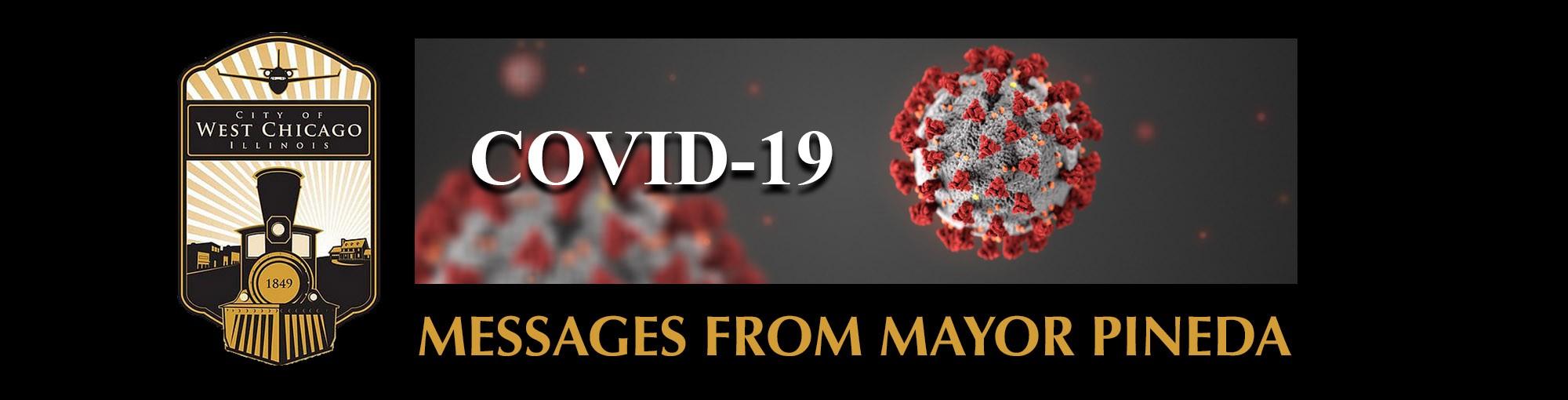 Graphic header for Messages from Mayor Ruben Pineda concerning Coronavirus
