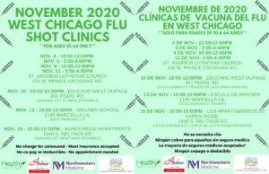November 2020 West Chicago Flu shot poster