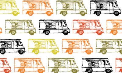 Graphic of food trucks