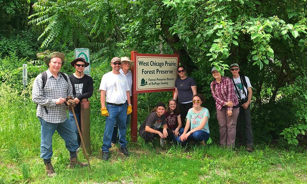 Group photo of West Chicago Prairie Stewardship Group