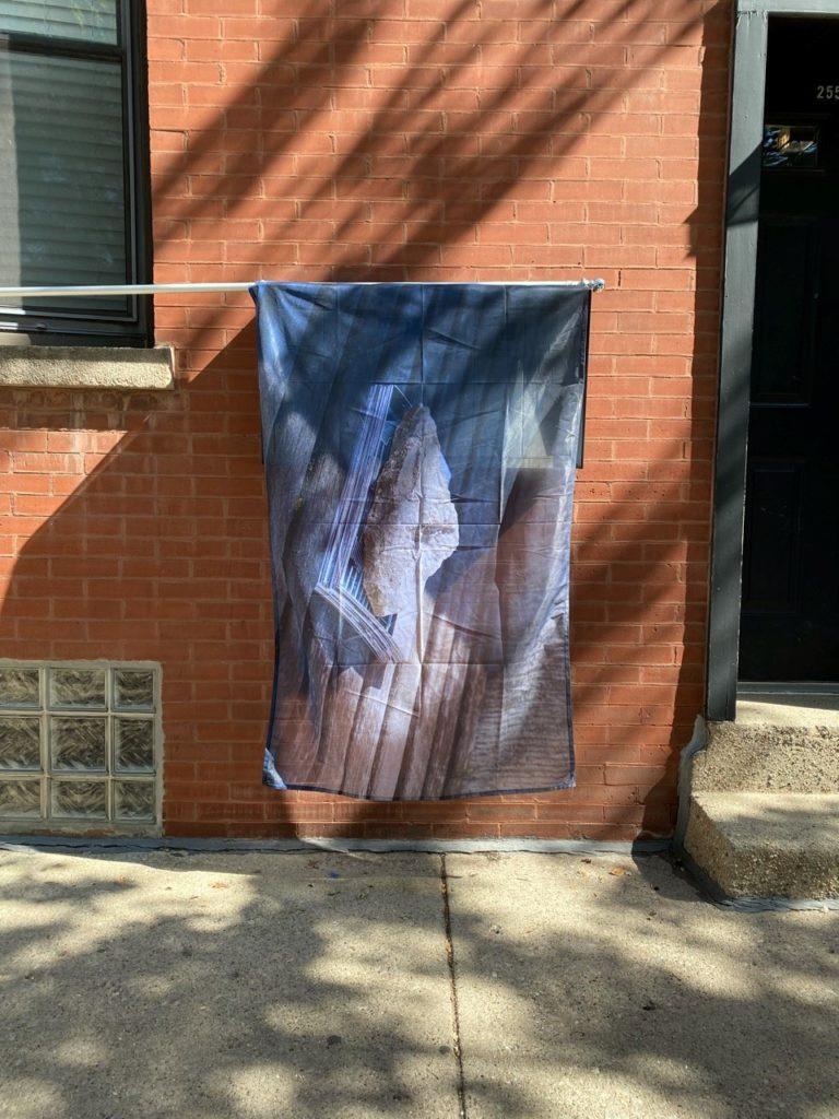 Flag by CAPE teaching artist: Austin MacCann, Vov of Silence, 2021.